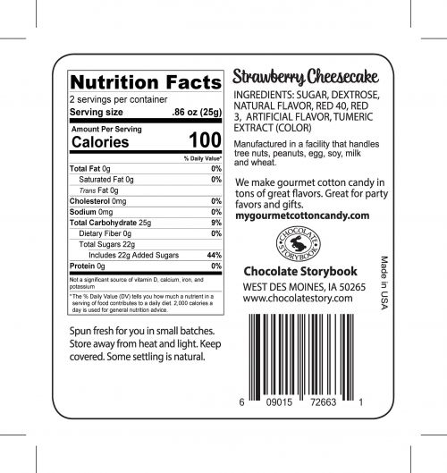 Cheesecake Ingredient label