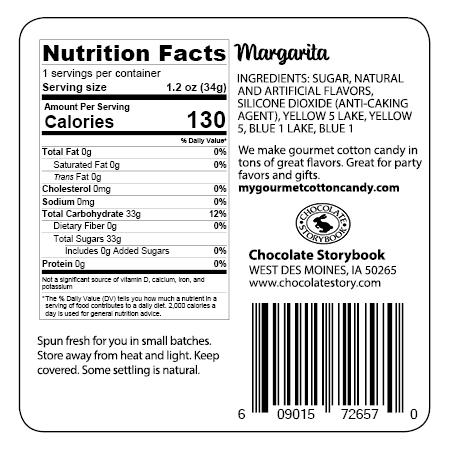 Margarita ingredient label