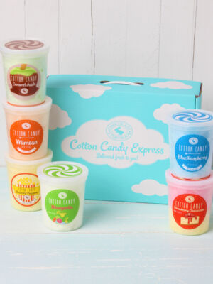 box of 6 cotton candy varieties