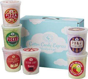 box of 6 extreme cotton candy tubs