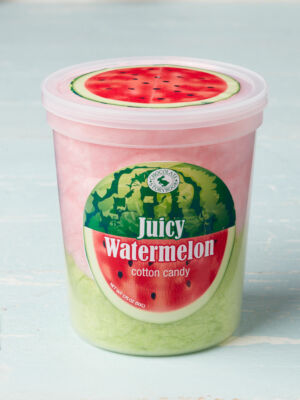 tub of juicy watermelon cotton candy