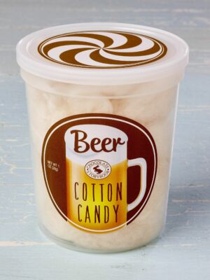 Tub of beer cotton candy