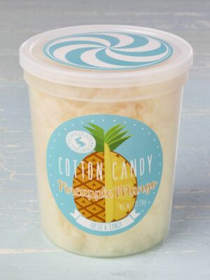 tub of pineapple mango cotton candy