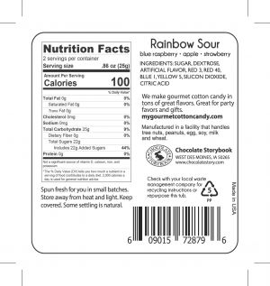 Rainbow Cotton Candy Nutrition Label