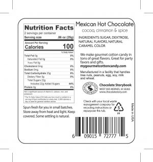 Mexican Hot Chocolate Nutrition Label