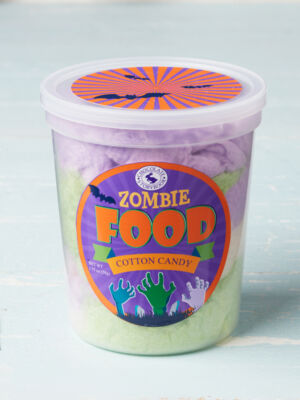 tub of zombie food cotton candy